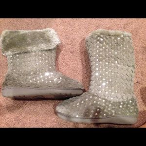 Shoes - Gray Sequins boots